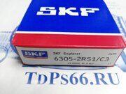Подшипник  SKF   6305-2RS1 C3  - TDPS66.RU