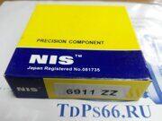 Подшипник     6911 ZZ  NIS - TDPS66.RU