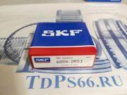 Подшипник шариковый   6006-2RS1 SKF - TDPS66.RU