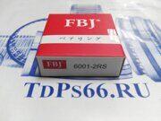 Подшипник  6001 2RS FBJ   -TDPS66.RU